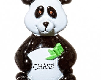 Personalized Ornament-Panda Ornament- Free Gift Bag Included