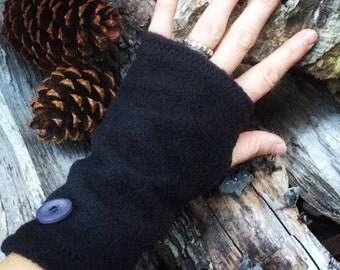 Little Black Glove Fingerless Fleece Texting Glove