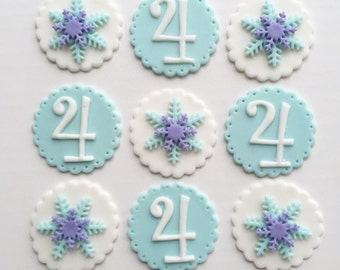 Frozen theme cupcake toppers