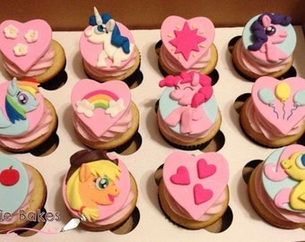 My Little Pony Cupcake Toppers