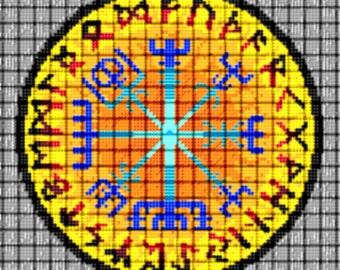 Vegvisir Cross Stitch Pattern