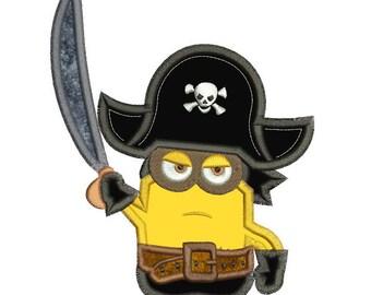 Pirate Minion Applique Design