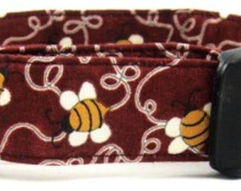 Bumble Bees Dog Collar