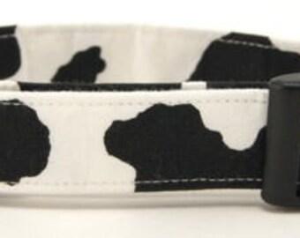 Cow Print Adjustable Handmade Cotton Dog Collar