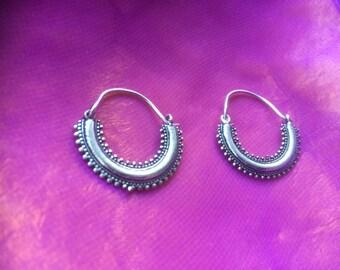 Silver ethnic earrings
