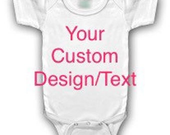 Custom designed infant one piece bodysuit; personalized Onesie; boy or girl