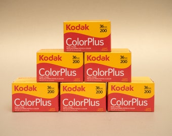 6 x Kodak ColorPlus 35mm 36 Exposures ISO 200 Color Negative Film