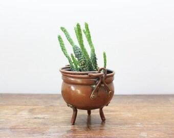 Vintage copper mini flower pot