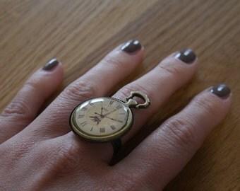 Ring clock vintage - Vintage clock Paris ring effect