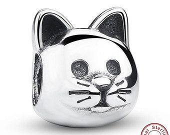 925 Sterling Silver Kitty Cat Charm Gift For Her, Gift Ideas