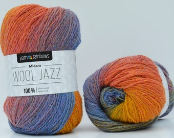 Wool ombre,  Wool Jazz , made in Lithuania