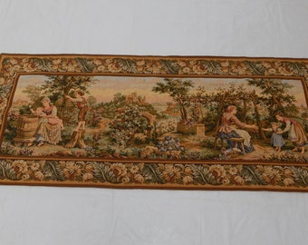 Vintage French Beautiful Tapestry 014