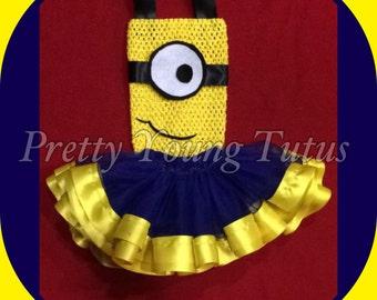 Minion infant tutu costume