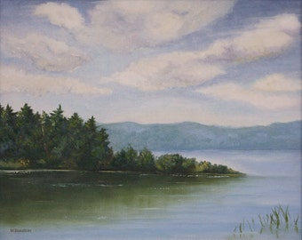 Original Art, Lake Superior, Landscape, Seascape, Northern Scene 20 x 16