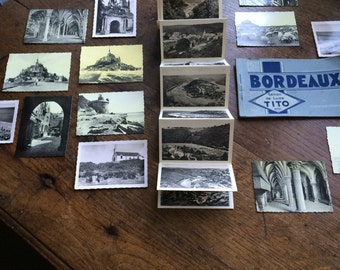 Old french small postcards