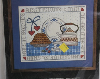 Janlynn Counted Cross Stitch Kit-Country Kitchen