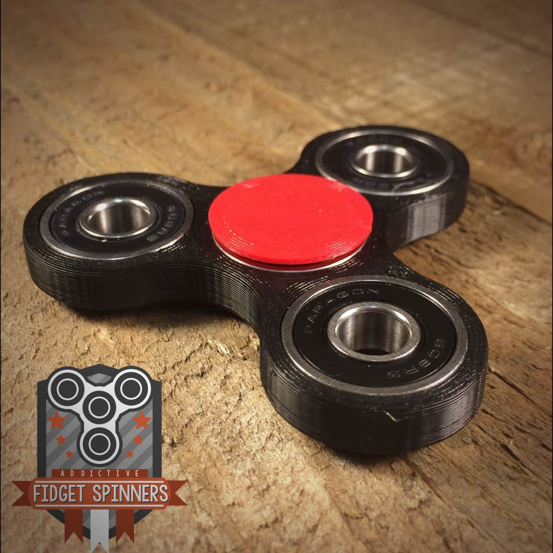 ... EDC Spinner Tri Bar Fidget Toy with Caps ...