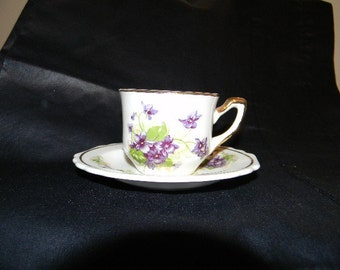 Demitasse Cup and Saucer, Lido, W.S. George White USA
