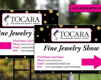 Tocara Yard Signs with H-stakes (Personalized)