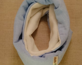 Blue Snood/ fleece cowl / pull over scarf/ tube scarf/ kids scarf