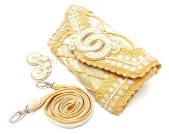 Envelope Crochet Bag with Earrings