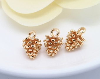 Copper pinecone etsy for Does gold plated jewelry fade