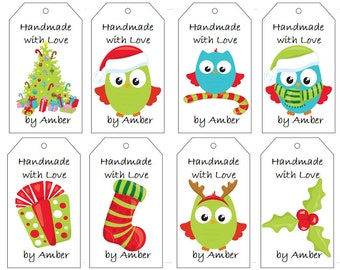 Owls and Gifts Gift Tags- PDF File