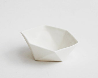 Decorative white porcelain origami Oddments