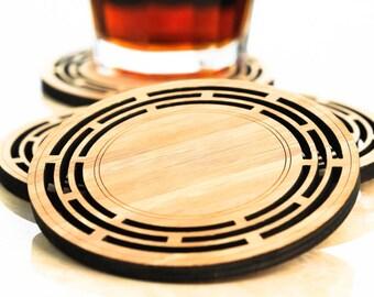 Bamboo Coasters,  set of 4 - Aztec