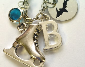 charm necklace, skate necklace, skater jewelry, sport jewelry, UP Jewelry, Upper Michigan, upper michigan jewelry, state jewelry,