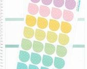 28, large, teardrop stickers,corner flags, drop stickers, hand drawn planner stickers, life planner stickers, diary, journal, plum planner,