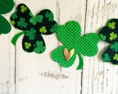 Shamrock Banner or Garland // St. Patrick's Day // St. Patty's Day // Green // Gold // Luck // Clover // Photo Prop // Mantle Decor