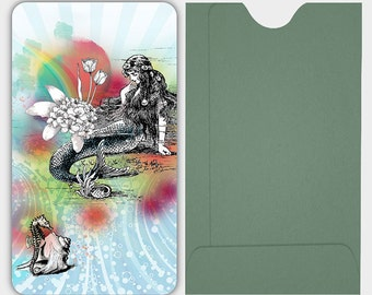 Mermaid La Luxure gift enclosures cards sets with envelopes