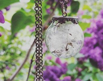 Dandelion Seed Botanical Necklace