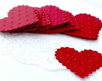Heart Stickers, Heart Envelope Seals, Red Paper Hearts, Red Heart Stickers