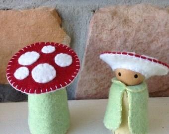 Birch skin red cap pixie sprite