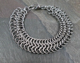 Chainmaille Bracelet - European 6-1 - Stainless Steel Chainmail - Chainmaille Jewelry - Chainmail Bracelet