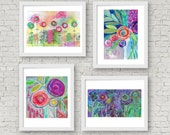 buy three get one free, any four prints, buy 3 get 1 free, mixed media, print