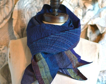 On Sale, by moon light, thread covered cotton scarf