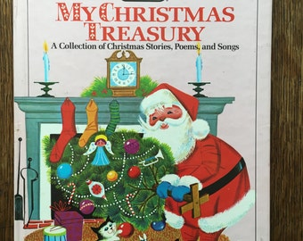 1968 My Christmas Treasury Pictures by Lowell Hess Vintage Book