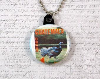 Guatemala Postage Stamp Necklace
