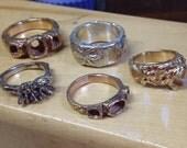 Set of 2 14k stacking rings -deposit