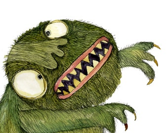Square Greeting Card: Oogie Boogie Monster