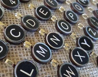 Typewriter Key Pendant Necklace WHOLESALE LOT reproduction 1930s royal customized order handmade wholesale boutique gift wedding favor