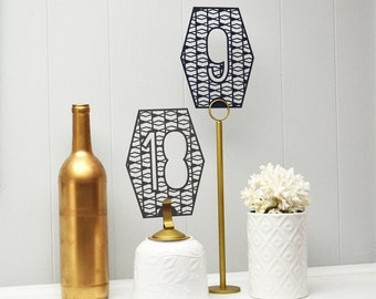 Laser Cut Table Numbers: Geometric 1-10