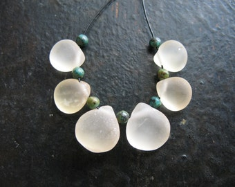 Frosted Citrine Briolette Bead Set