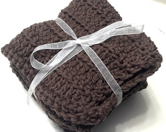 Set of 4 100% Cotton Dishcloths, Washcloths