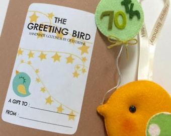 NEW Happy Birthday Greeting Birds, Personalized Birthday Keepsake for Everybody, Custom Unique Birthday Gift for Kids, Baby's First Birthday