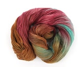 Handdyed 4ply wool, fingering Falkland Merino sock yarn, variegated UK spun knitting yarn, crochet Perran Yarn Jewel Mania, natural fibre uk