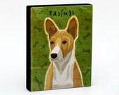 "Basenji Art Block 4"" x 5""- Dog Art Print- Dog Print- Dog Wall Decor- Dog Gifts for Him- Dog Gifts for Dog Lovers- Gifts Boss Gifts-Boss Gift"
